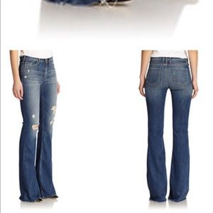 Mcguire Majorelle Distressed Flared Jeans 26
